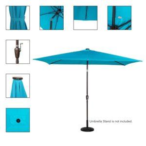 Sundale Rectangular Umbrella Details