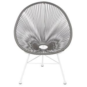 Jospeh Allen Acapulco Lounge Chair, Grey and White