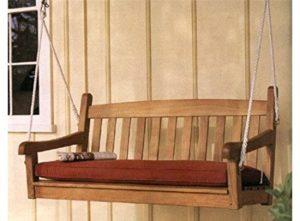 "Teak Station 4'6"" Teak Porch Swing Chair (Sunbrella cushion sold separately)"