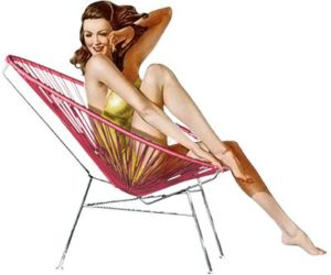Acapulco Chair Pin Up. Source: Kitsch Kitchen