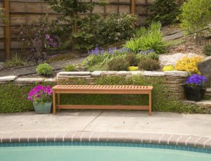 Arboria Outdoor Bench Backless Large 5 Foot Length