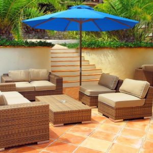 Patio Umbrella with an Outdoor Living Set by Yescom