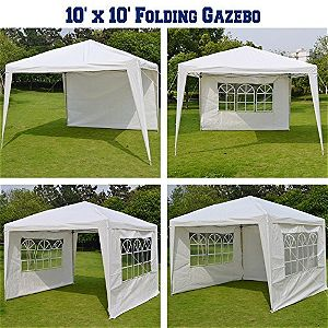 BenefitUSA 10x10 Folding Gazebo Side Configurations