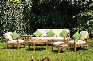 Noida 6 Piece Teak Sofa Lounge Set