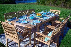 Pebble Lane 9 Piece Teak Dining Set