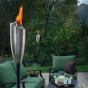 Tiki Torch Burning Away