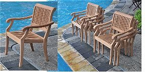 Wholesale Teak 7 Piece Stacking Chairs