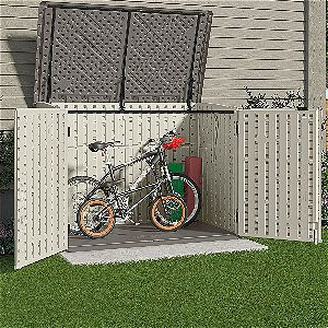 Bikes In The Suncast BMS4700 Horizontal Storage Shed