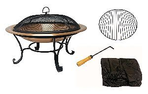 Catalina Creations Copper Fire Pit Set
