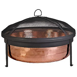 CobraCo SH101 Copper Fire Bowl With Screen