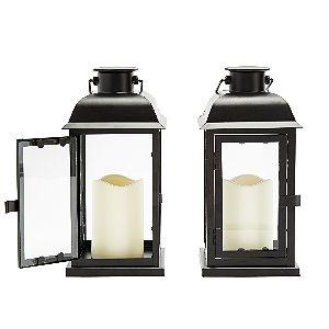 LampLust Solar Black Lanterns