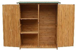 Merax Wooden Garbage Shed Open