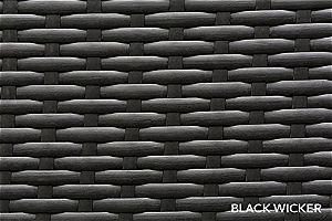 Ohana Black Wicker Detail