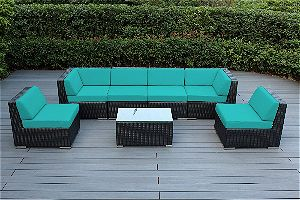 Ohana Outdoor Wicker Sectional 7pc, among the Best Patio Conversation Sets available!
