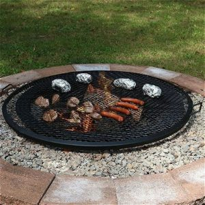 Sunnydaze X-Marks Fire Pit Cooking Grill, 40 Inch