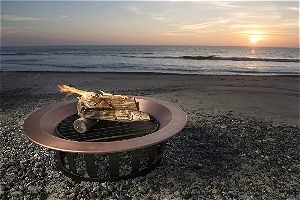 Sunset with the Titan Copper Fire Pit Bowl