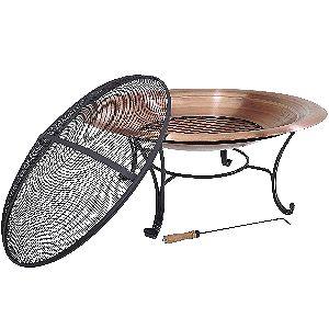 Titan 39in Copper Fire Pit Bowl Set