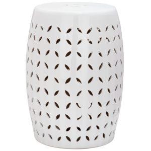 Safiveh Lattice Petal Stool - the Best Ceramic Garden Stools Around!