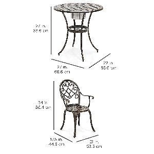 Best Choice Products Bistro Set Dimensions
