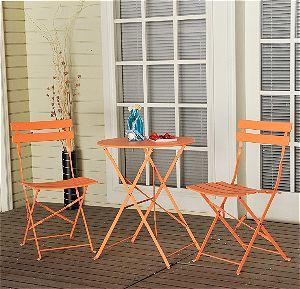 Grand patio 3-PCS Bistro-Set in Orange