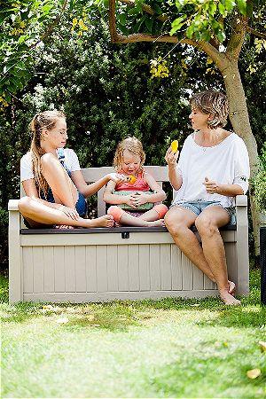 Keter Eden Beige Outdoor Patio Storage Garden Bench