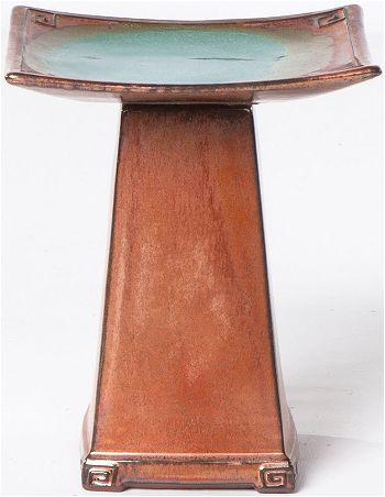 Alfresco Home Zen Ceramic Bird Bath