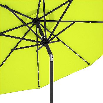 Best Choice Products 10ft Solar Patio Umbrella Lime Green
