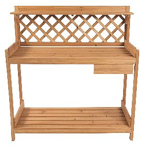Best Choice Products Potting Bench Outdoor Garden Work Bench Station