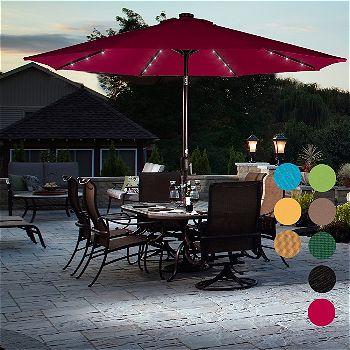 Best Patio Umbrella With Lights, Patio Umbrellas With Solar Lights