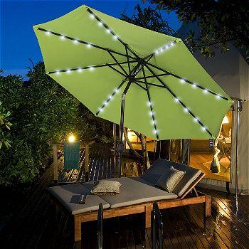 Sundale Outdoor Tilting Umbrella with Lights