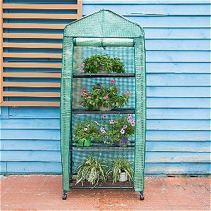 Finether 4-Tier Greenhouse with Casters