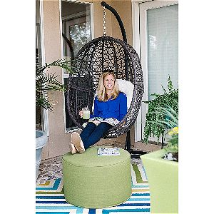 Island Bay Resin Wicker Espresso Hanging Egg Chair