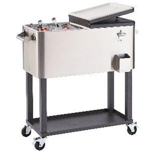 TRINITY TXK-0802 Rolling Patio Cooler with Shelf