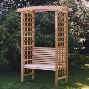All Things Cedar Garden Arbor with Bench