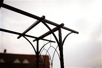 Go Steel Garden Arch Detail