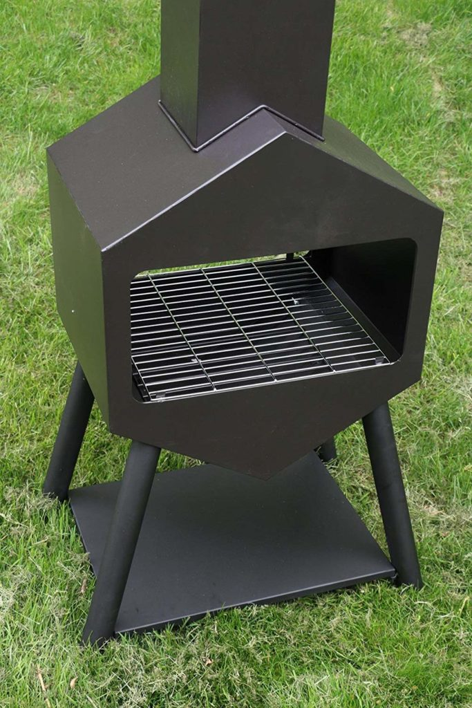 Oliver and Smith - Large Iron Outdoor Patio Chiminea
