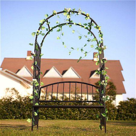 GO Steel Garden Arch with Seat