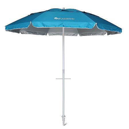 AMMSUN Outdoor Patio Beach Umbrella Sun Shelter with Fringe, Multicolor