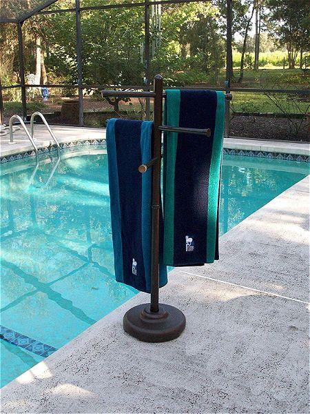 Outdoor Lamp company 401BRZ Portable Outdoor 3 Bar Towel Tree
