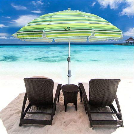 Snail 7 feet Vented Beach Umbrella with Tilt and Telescoping Aluminum Pole