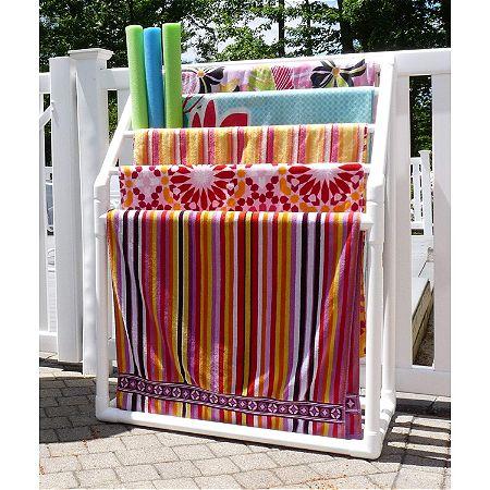 TowelMaid 5 Bar Freestanding Outdoor Spa Towel Rack