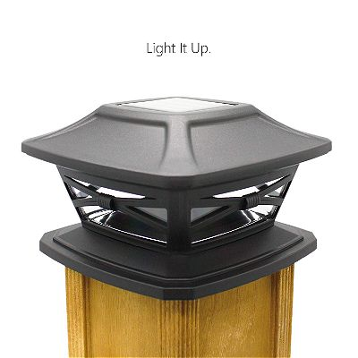 Davinci Solar Post Lights - Outdoor Post Cap Light