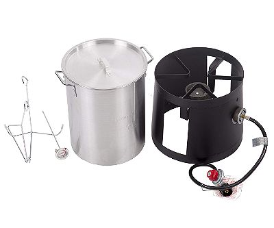 FDW Portable Propane Cooker with 30-Quart Outdoor Turkey Fryer Kit