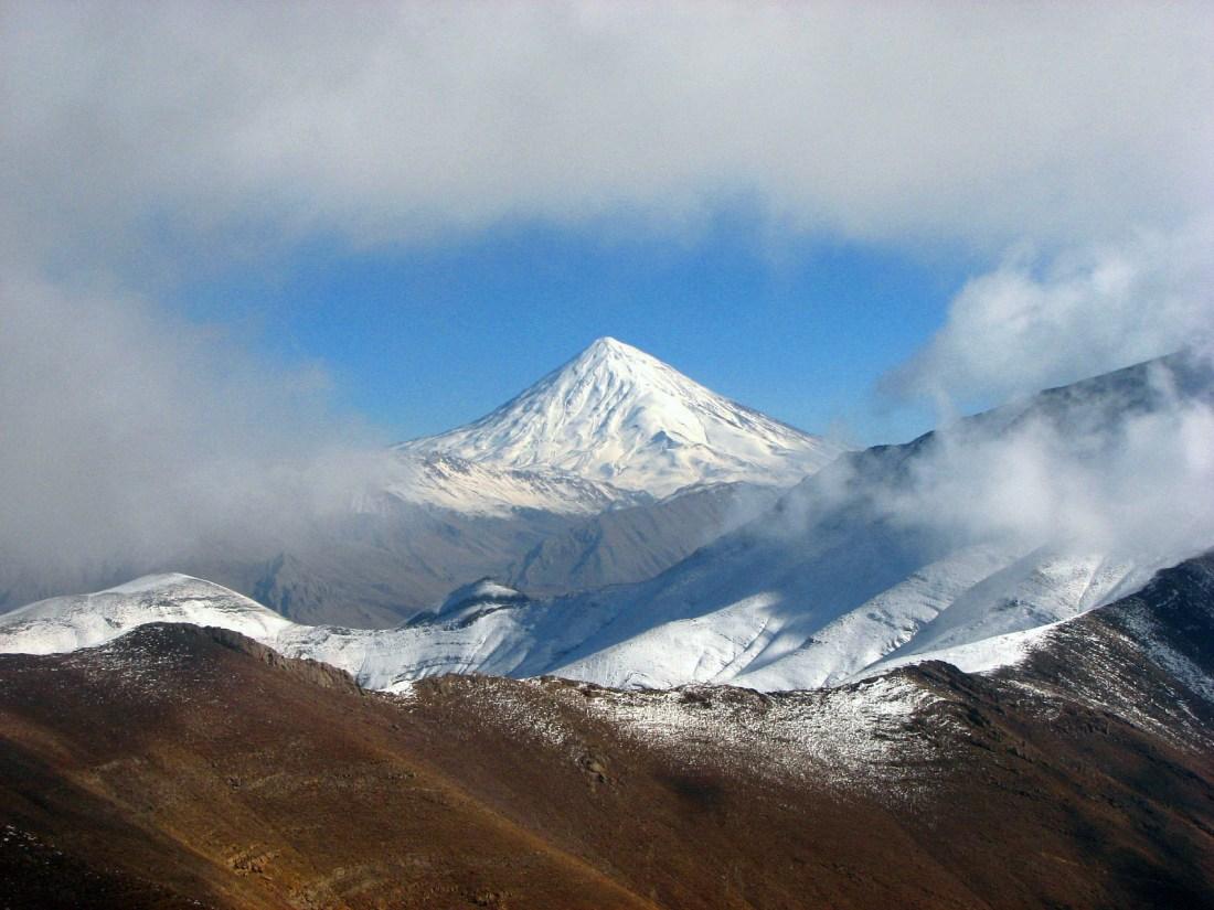 Damavand looks similar to Mt Fuji