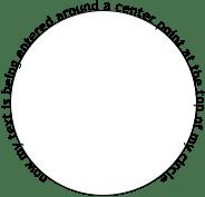 Text flow along a curve tutorial