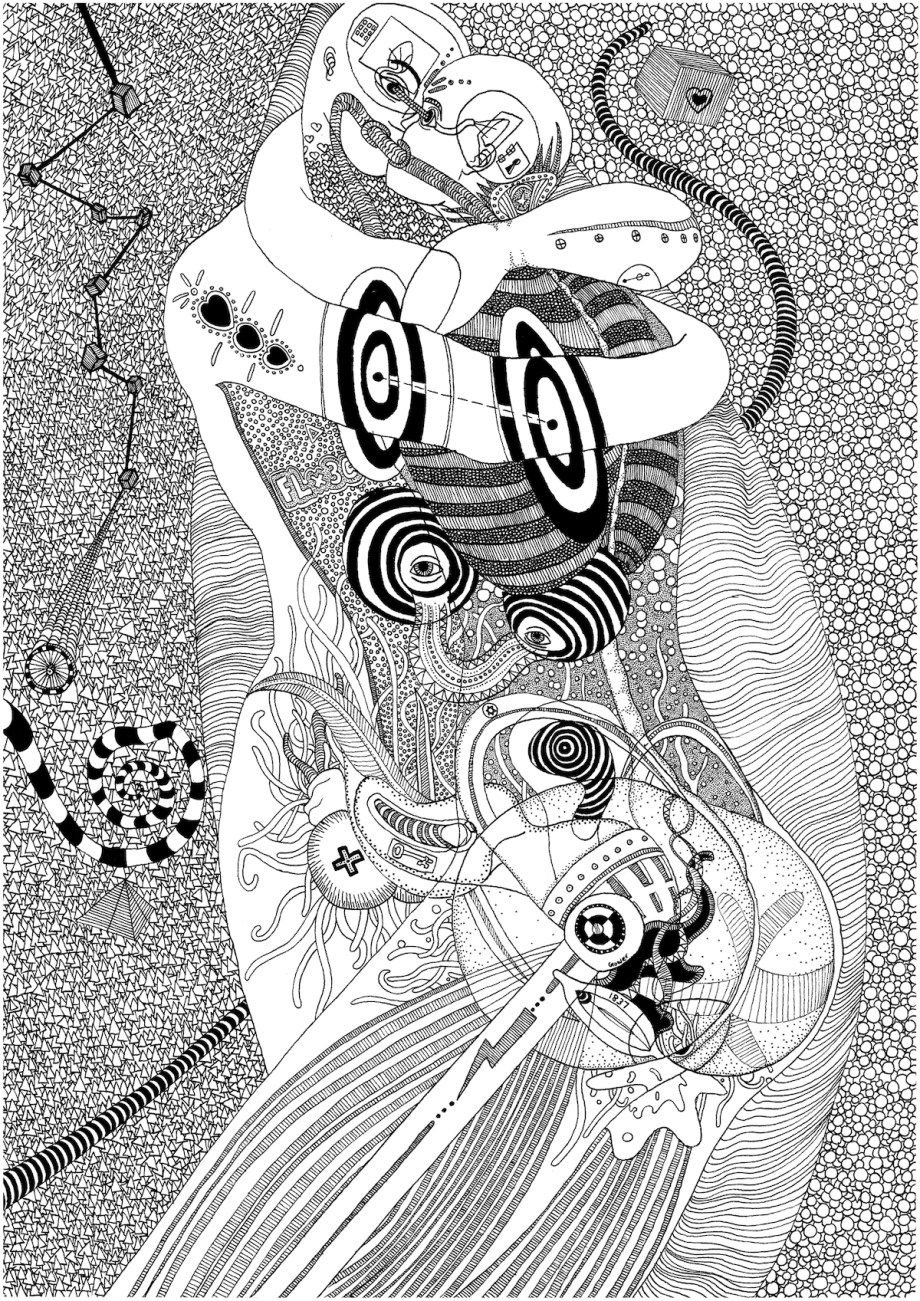The Love Thing Medium Ink on paper Size A3