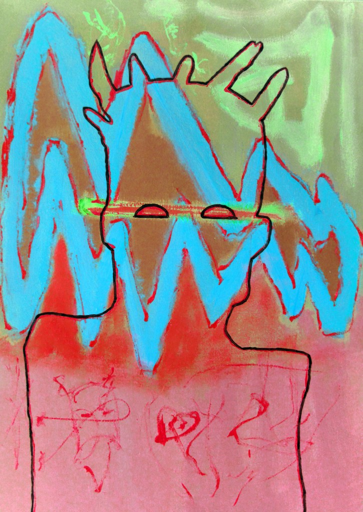Jean-Michel Basquiat Medium Digital Art/Drawings & Paintings on Canvas Size 42 x 29,73 cm