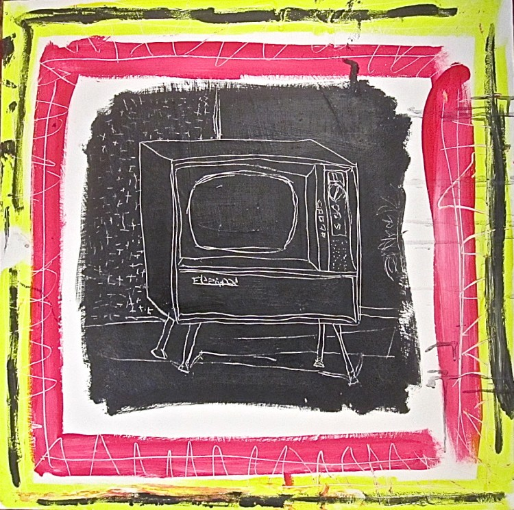 A Television | Acrylic on wood | 24x24