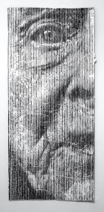S… like Solveig aka What [?] If [?] or a New Grate v.6.24 | Mixed Media | 205 x 100 cm.