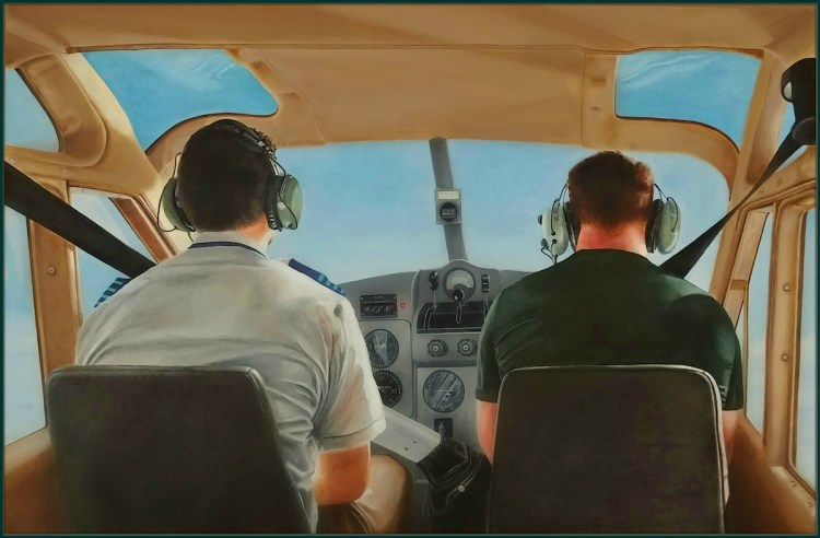 "View From The Back Seat | Oil on canvas | 40"" x 36"""